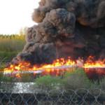 На нефтеперерабатывающем заводе в Салавате произошло возгорание