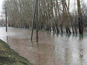В Стерлитамаке поднялся уровень реки Белая