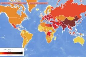 В мире появилась интерактивная карта загрязнения воздуха