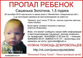 В Башкирии две недели разыскивают полуторагодовалую девочку