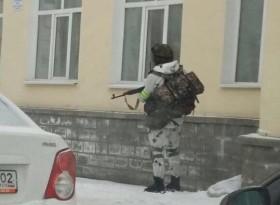 В Уфе замечена военная техника и вооруженные бойцы